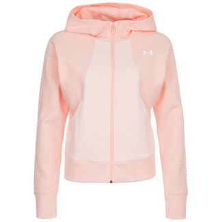 Under Armour Graphic Fleece Trainingsjacke Damen apricot