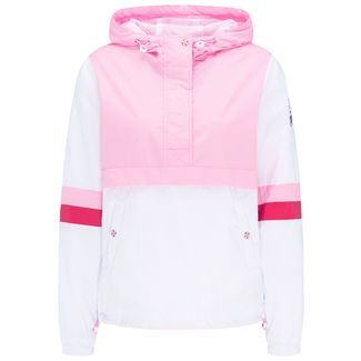 MYMO Kurzjacke Damen weiß rosa c.block