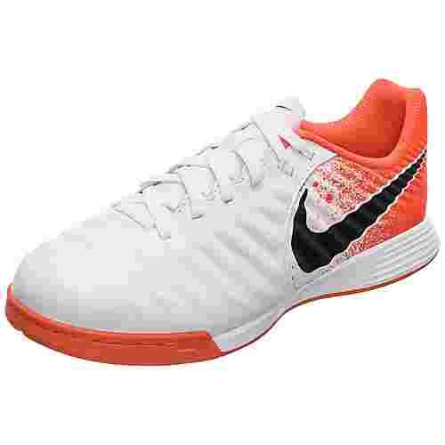 Nike Tiempo LegendX VII Academy Fußballschuhe Kinder weiß / orange