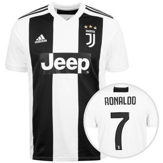 34fabf4613f12a adidas Juventus Turin 18 19 Heim Ronaldo Fußballtrikot Herren weiß   schwarz