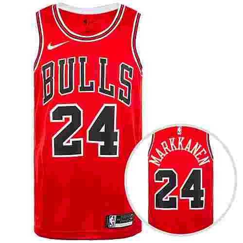 Nike Chicago Buls NBA Swingman Basketballtrikot Herren rot / weiß