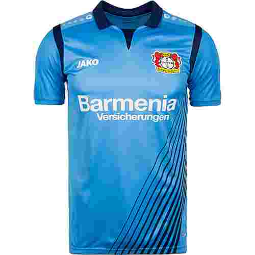 JAKO Bayer 04 Leverkusen 18/19 Auswärts Fußballtrikot Herren hellblau / blau