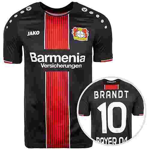 JAKO Bayer 04 Leverkusen 18/19 Heim Brandt Fußballtrikot Herren schwarz / rot / weiß