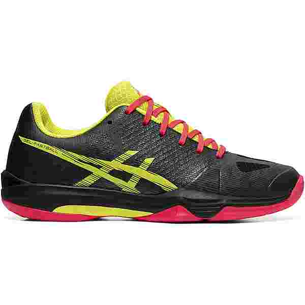 ASICS GEL-FASTBALL 3 Hallenschuhe Damen black-sour yuzu