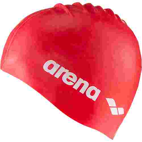 Arena Classic Silicone Jr Badekappe Kinder red-white
