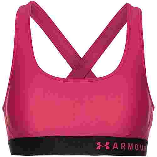 Under Armour Armour Mid Crossback Sport-BH Damen pink