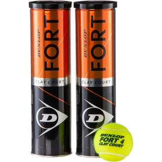 Dunlop Fort Clay Court 2x4er Tennisball gelb
