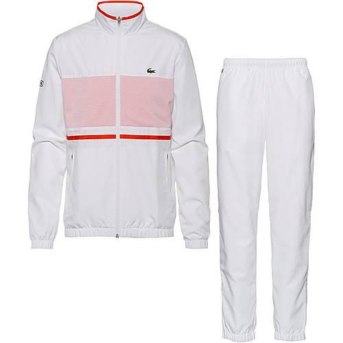 info for 6ffb5 8cfab Lacoste Trainingsanzug Herren white-mexico red-navy blue im Online Shop von  SportScheck kaufen