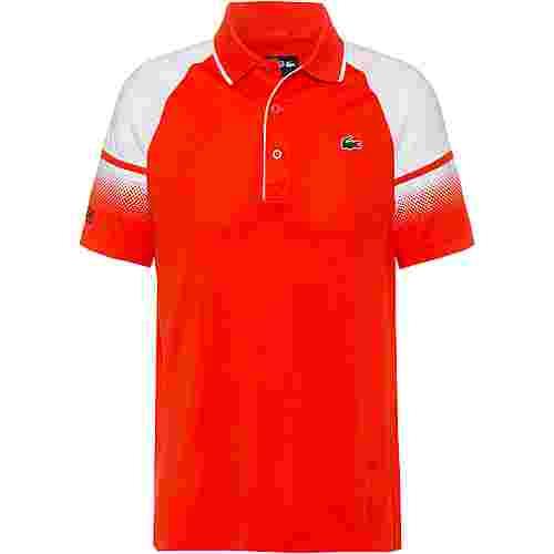 Lacoste CHEMISE COL BORD-COTES MA Poloshirt Herren mexico red-white-navy blue
