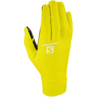 Salomon PULSE Fingerhandschuhe sulphur spring-black