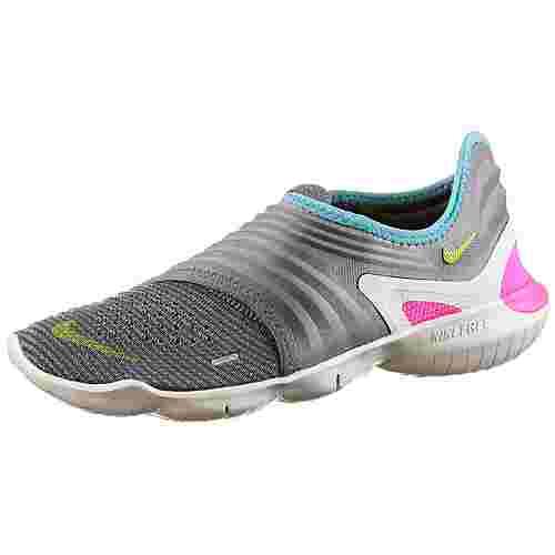 Nike Free RN Flyknit 3.0 Laufschuhe Damen thunder grey-volt-aurora green