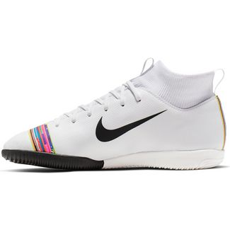 Nike JR MERCURIAL SPRFLY 6 ACADEMY GS CR7 IC Fußballschuhe Kinder white-black-pure platinum