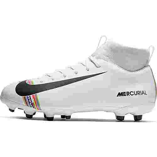 Nike JR MERCURIAL SFLY 6 ACADEMY GS CR7 FG/MG Fußballschuhe Kinder white-black-pure platinum