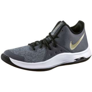 Nike Air Versitile III Basketballschuhe Herren black-metallic gold-dark grey