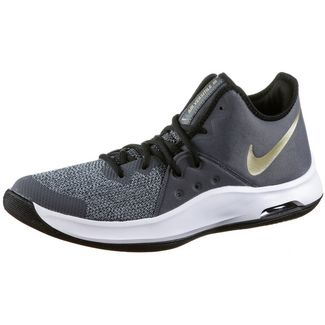 Nike Air Versitile III Basketballschuhe Herren black-metallic gold-dark grey