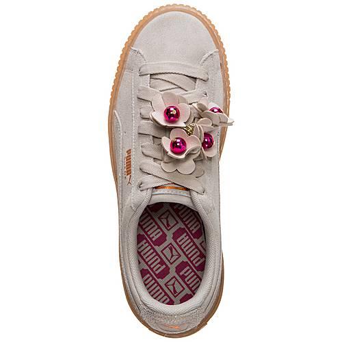 PUMA Suede Platform Flower Tassel Sneaker Damen grau