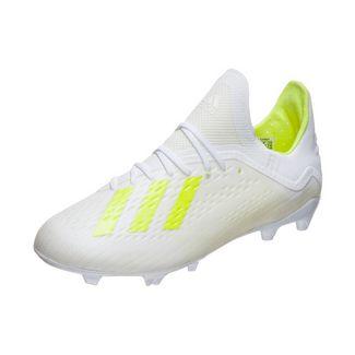adidas X 18.1 FG Fußballschuhe Kinder weiß / neongelb