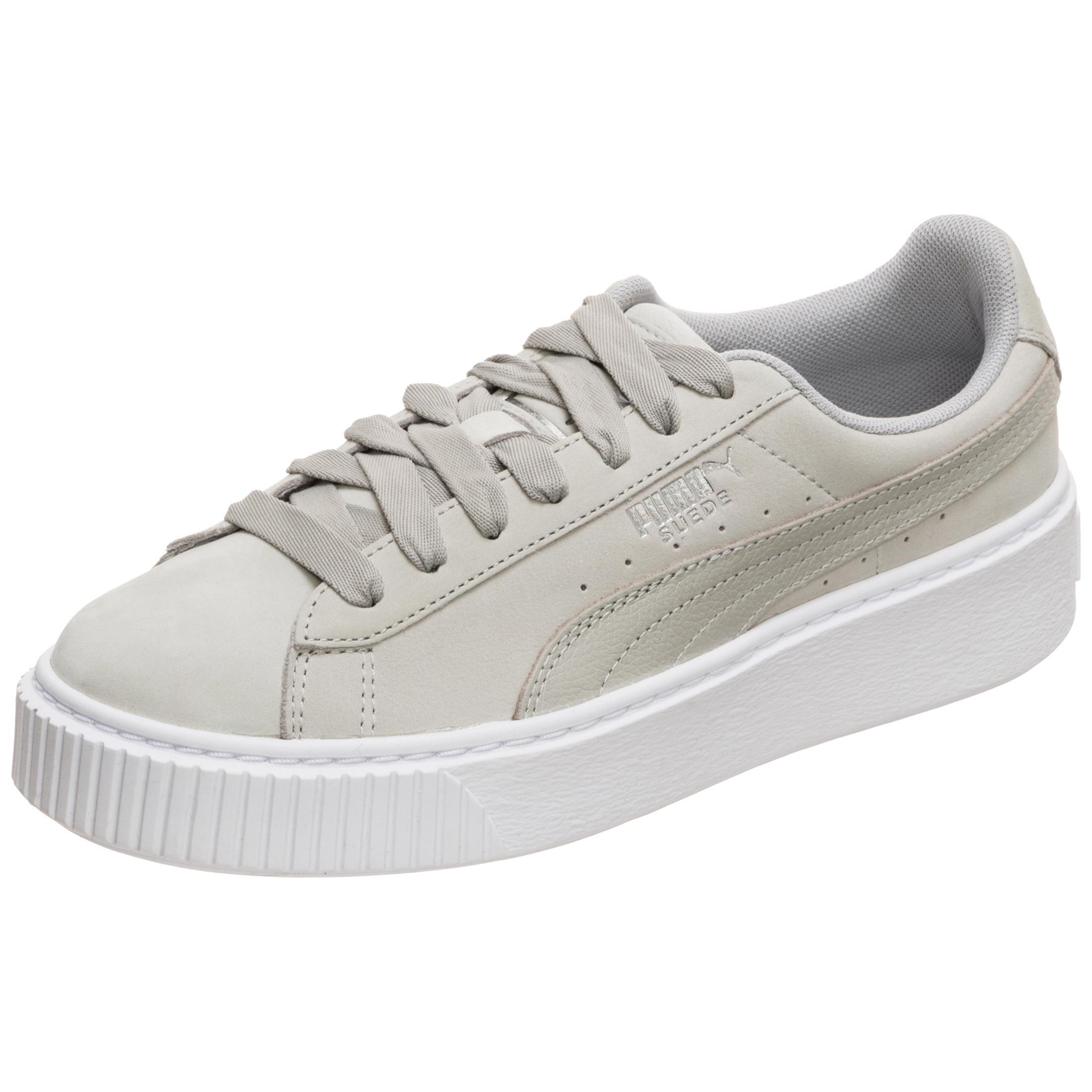 PUMA Suede Platform Shimmer Sneaker Damen grau / weiß im Online Shop von  SportScheck kaufen
