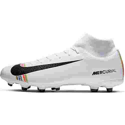 Nike MERCURIAL SUPERFLY 6 ACADEMY CR7 FG/MG Fußballschuhe white-black-pure platinum