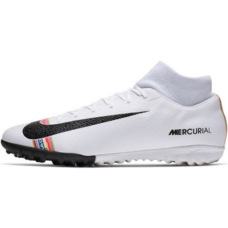 wholesale dealer 5ead2 b7cac Nike MERCURIAL SUPERFLY 6 ACADEMY CR7 TF Fußballschuhe white-black-pure  platinum