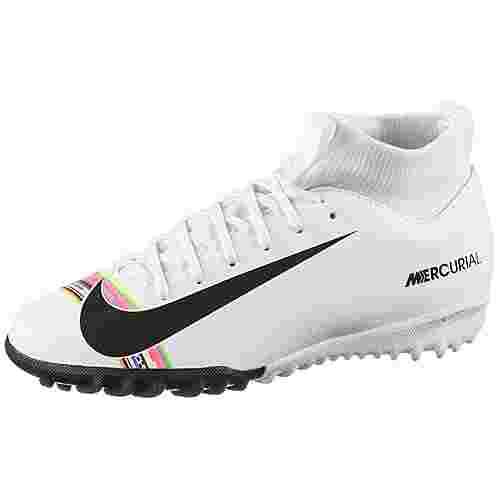 Nike JR MERCURIAL SPEFLY 6 ACADEMY GS CR7 TF Fußballschuhe Kinder white-black-pure platinum
