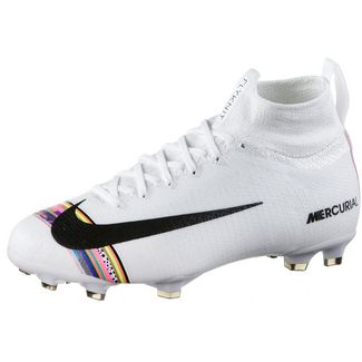 Nike JR MERCURIAL SUPERFLY 6 ELITE CR7 FG Fußballschuhe Kinder white-black-pure platinum