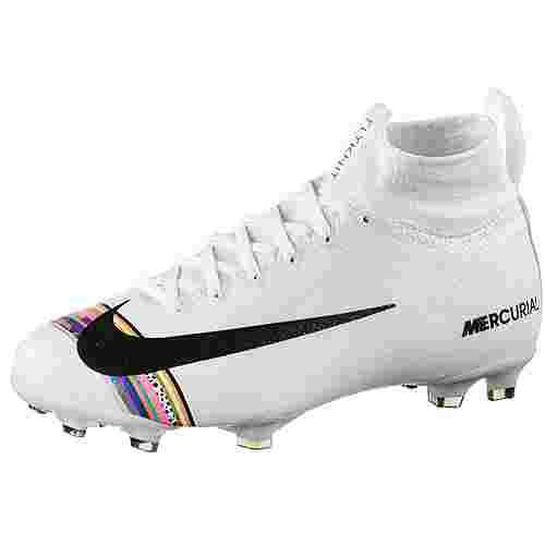 Nike JR MERCURIAL SUPERFLY 6 ELITE CR7 FG Fußballschuhe Kinder white-black-pure platinum
