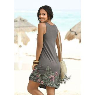 BEACH TIME Trägerkleid Damen taupe »Lilie«