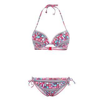 sunseeker Bikini Set Damen pink-bedruckt