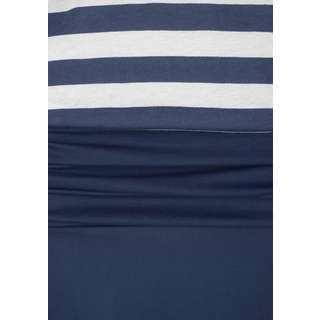 BEACH TIME Trägerkleid Damen blau-weiß