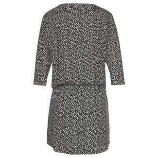 S.OLIVER Jerseykleid Damen schwarz-creme-bedruckt