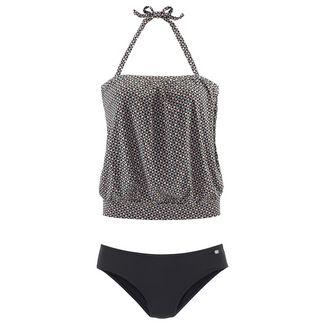 Jette Joop Bikini Oberteil Damen schwarz-grau