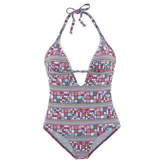 sunseeker Badeanzug Damen pink-bedruckt