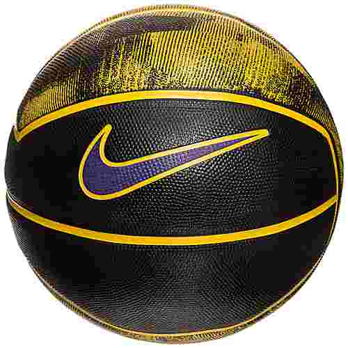 Nike LeBron Playground 4P Basketball schwarz / gelb