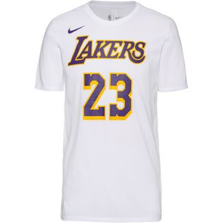 Nike Los Angeles Lakers LeBron Basketball Shirt Herren white