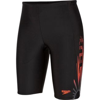 SPEEDO Logo Badehose Kinder echo-shater-blk-psyred-oxidgry