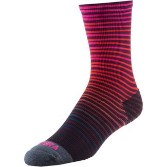 Endura Graphics Wave Sock Fahrradsocken Damen red