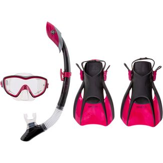 AQUA LUNG Set Bonita Schnorchelset dark pink-black