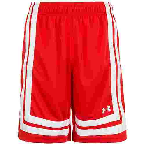 Under Armour Baseline Basketball-Shorts Herren rot / weiß
