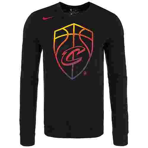 Nike Cleveland Cavaliers Sweatshirt Herren schwarz / orange