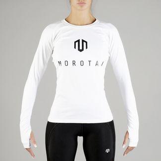 MOROTAI Premium Brand Longsleeve Langarmshirt Damen Weiß