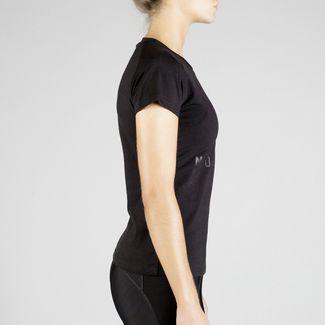 MOROTAI Premium Basic Brand T-Shirt T-Shirt Damen Schwarz / Schwarz