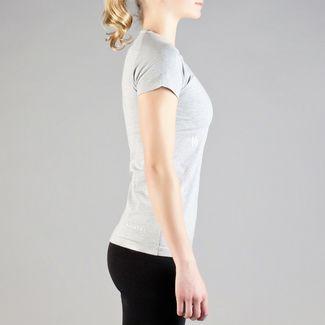 MOROTAI Premium Basic Brand T-Shirt T-Shirt Damen Hellgrau / Weiß