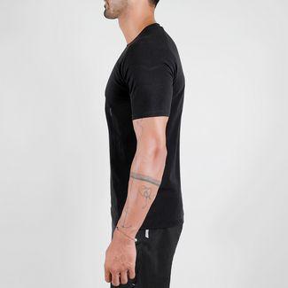 MOROTAI PREMIUM Brand Basic T-Shirt T-Shirt Herren Schwarz / Reflektor