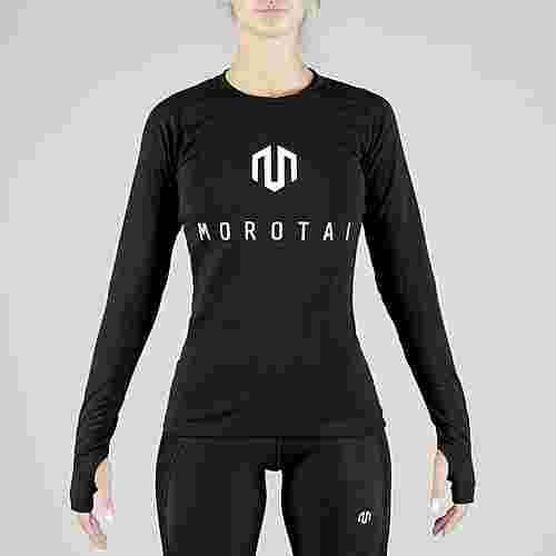 MOROTAI Premium Brand Longsleeve Langarmshirt Damen Schwarz