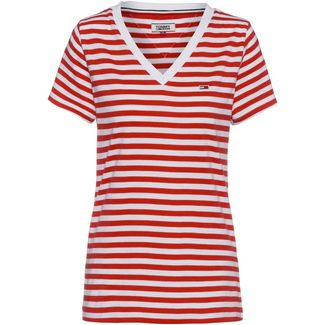 Tommy Jeans Tommy Classics T-Shirt Damen flame scarlet-classic white