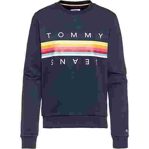 Tommy Jeans Rainbow Tommy Sweatshirt Damen black iris