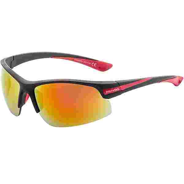 Maui Wowie Semi RIM Sportbrille matte black-red rubber