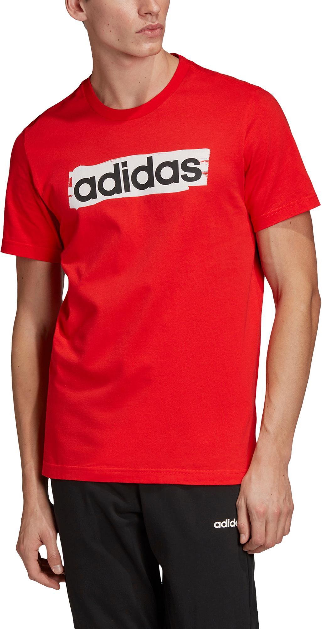 Menda City Calore pasticceria  Adidas E Lin T-Shirt Herren active red im Online Shop von SportScheck kaufen
