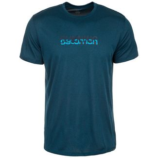 Salomon Agile Graphic Laufshirt Herren dunkelblau